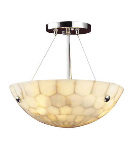 Spanish Mosaic 3 Light Semi Flush Mount