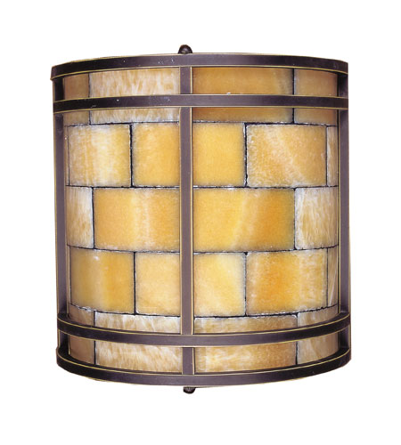 ELK Lighting Stone Mosaic 2 Light Sconce in Dark Antique Brass 8882/2 photo
