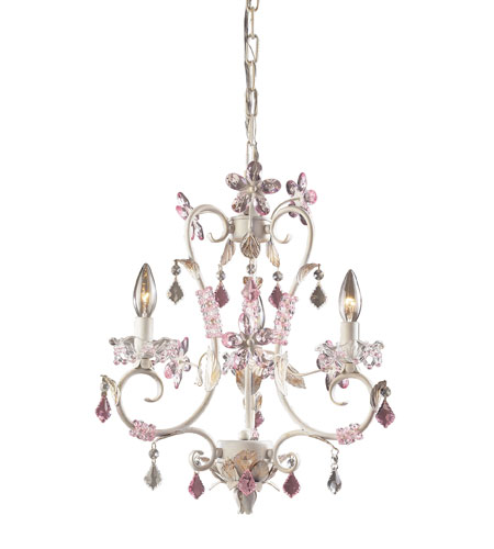 ELK Lighting Julia 3 Light Chandelier in Antique White 9100/3 photo