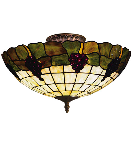ELK 931-VA Grapevine 3 Light 16 inch Vintage Antique Semi Flush Mount Ceiling Light photo