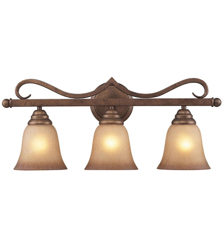 ELK 9322/3 Lawrenceville 3 Light 24 inch Mocha Vanity Light Wall Light in Incandescent photo