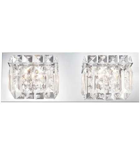 Chrome Metal Crown Bathroom Vanity Lights