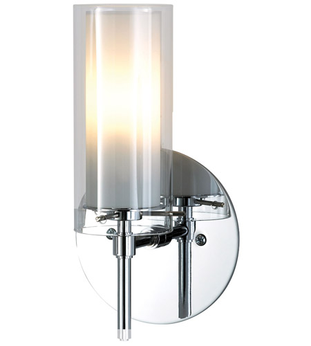 premium selection 416c2 66d04 Tubolaire 1 Light 5 inch Chrome Sconce Wall Light