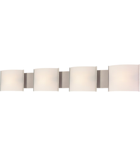 ELK BV714-10-16 Pannelli 4 Light 41 inch Stainless Steel Vanity Light Wall Light in White Opal photo