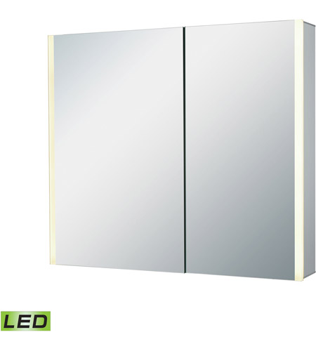 ELK LMC3K-3227-EL2 LED Lighted Mirrors 32 X 28 inch Brushed Aluminum Wall Mirror photo
