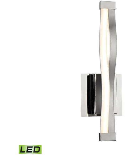 Aluminum and Chrome Glass Wall Sconces