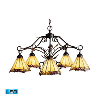Grape Trellis LED 28 inch Antique Iron Chandelier Ceiling Light