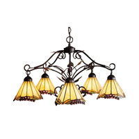 ELK Lighting Grape Trellis 5 Light Chandelier in Antique Iron 035-IA