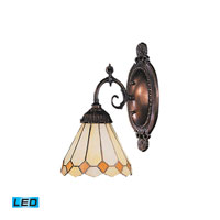 ELK Lighting Diamond 1 Light Wall Sconce in Tiffany Bronze 071-TB-05-LED