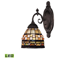 Mix-N-Match LED 5 inch Tiffany Bronze Wall Sconce Wall Light in Tiffany 10 Glass
