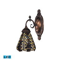 Mix-N-Match LED 5 inch Tiffany Bronze Wall Sconce Wall Light in Tiffany 20 Glass
