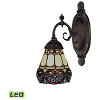 Mix-N-Match LED 5 inch Tiffany Bronze Wall Sconce Wall Light in Tiffany 21 Glass
