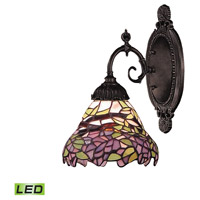 Mix-N-Match LED 5 inch Tiffany Bronze Wall Sconce Wall Light in Tiffany 28 Glass