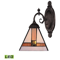 ELK 071-TB-01-LED Mix-N-Match LED 5 inch Tiffany Bronze Wall Sconce Wall Light in Tiffany 01 Glass