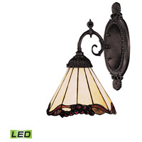 Mix-N-Match LED 5 inch Tiffany Bronze Wall Sconce Wall Light in Tiffany 03 Glass