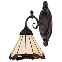 Mix-N-Match 1 Light 5 inch Tiffany Bronze Wall Sconce Wall Light in Standard, Tiffany 03 Glass
