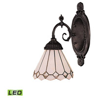 Mix-N-Match LED 5 inch Tiffany Bronze Wall Sconce Wall Light in Tiffany 04 Glass