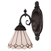 Mix-N-Match 1 Light 5 inch Tiffany Bronze Wall Sconce Wall Light in Standard, Tiffany 04 Glass
