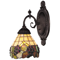 Mix-N-Match 1 Light 5 inch Tiffany Bronze Wall Sconce Wall Light in Standard, Tiffany 07 Glass
