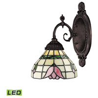 ELK 071-TB-09-LED Mix-N-Match LED 5 inch Tiffany Bronze Wall Sconce Wall Light in Tiffany 09 Glass