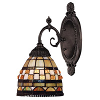 Mix-N-Match 1 Light 5 inch Tiffany Bronze Wall Sconce Wall Light in Standard, Tiffany 10 Glass