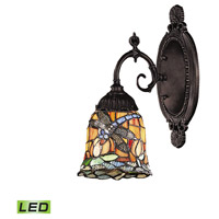 Mix-N-Match LED 5 inch Tiffany Bronze Wall Sconce Wall Light in Tiffany 12 Glass