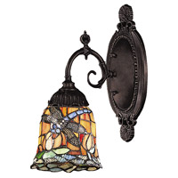 Mix-N-Match 1 Light 5 inch Tiffany Bronze Wall Sconce Wall Light in Standard, Tiffany 12 Glass