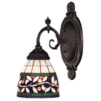 Mix-N-Match 1 Light 5 inch Tiffany Bronze Wall Sconce Wall Light in Standard, Tiffany 13 Glass