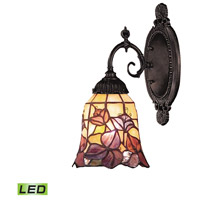 Mix-N-Match LED 5 inch Tiffany Bronze Wall Sconce Wall Light in Tiffany 17 Glass