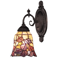 Mix-N-Match 1 Light 5 inch Tiffany Bronze Wall Sconce Wall Light in Standard, Tiffany 17 Glass