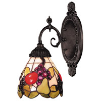 Mix-N-Match 1 Light 5 inch Tiffany Bronze Wall Sconce Wall Light in Standard, Tiffany 19 Glass