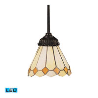 Diamond LED 6 inch Tiffany Bronze Pendant Ceiling Light in Tiffany 05 Glass