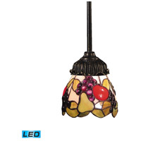 Mix-N-Match LED 6 inch Tiffany Bronze Pendant Ceiling Light in Tiffany 19 Glass