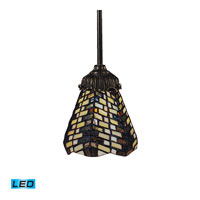 Mix-N-Match LED 6 inch Tiffany Bronze Pendant Ceiling Light in Tiffany 20 Glass