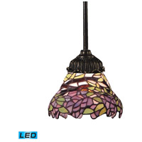 Mix-N-Match LED 6 inch Tiffany Bronze Pendant Ceiling Light in Tiffany 28 Glass