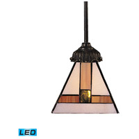 Mix-N-Match LED 6 inch Tiffany Bronze Mini Pendant Ceiling Light in Tiffany 01 Glass