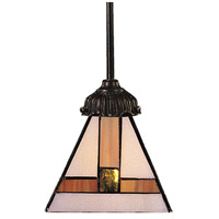 Mix-N-Match 1 Light 6 inch Tiffany Bronze Pendant Ceiling Light in Standard, Tiffany 01 Glass