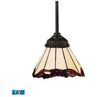 Mix-N-Match LED 6 inch Tiffany Bronze Mini Pendant Ceiling Light in Tiffany 03 Glass