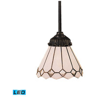 ELK 078-TB-04-LED Mix-N-Match LED 6 inch Tiffany Bronze Pendant Ceiling Light in Tiffany 04 Glass