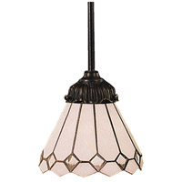 Mix-N-Match 1 Light 6 inch Tiffany Bronze Pendant Ceiling Light in Standard, Tiffany 04 Glass