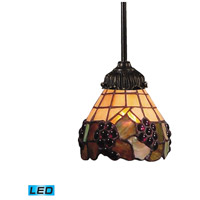 Mix-N-Match LED 6 inch Tiffany Bronze Mini Pendant Ceiling Light in Tiffany 07 Glass