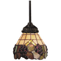 Mix-N-Match 1 Light 6 inch Tiffany Bronze Pendant Ceiling Light in Standard, Tiffany 07 Glass