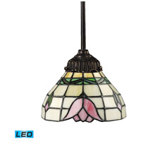 ELK 078-TB-09-LED Mix-N-Match LED 6 inch Tiffany Bronze Pendant Ceiling Light in Tiffany 09 Glass