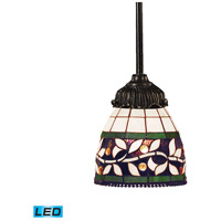 Mix-N-Match LED 6 inch Tiffany Bronze Pendant Ceiling Light in Tiffany 13 Glass
