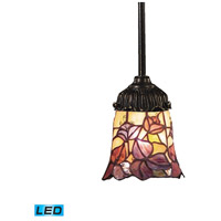 ELK 078-TB-17-LED Mix-N-Match LED 6 inch Tiffany Bronze Pendant Ceiling Light in Tiffany 17 Glass
