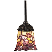 Mix-N-Match 1 Light 6 inch Tiffany Bronze Pendant Ceiling Light in Standard, Tiffany 17 Glass