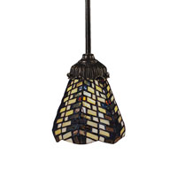 Mix-N-Match 1 Light 6 inch Tiffany Bronze Pendant Ceiling Light in Standard, Tiffany 20 Glass