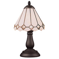 Mix-N-Match 13 inch 60 watt Tiffany Bronze Table Lamp Portable Light in Tiffany 04 Glass