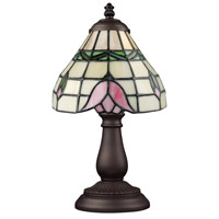 ELK 080-TB-09 Mix-N-Match 13 inch 60 watt Tiffany Bronze Table Lamp Portable Light in Tiffany 09 Glass photo thumbnail