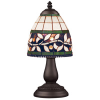 Mix-N-Match 13 inch 60 watt Tiffany Bronze Table Lamp Portable Light in Tiffany 13 Glass